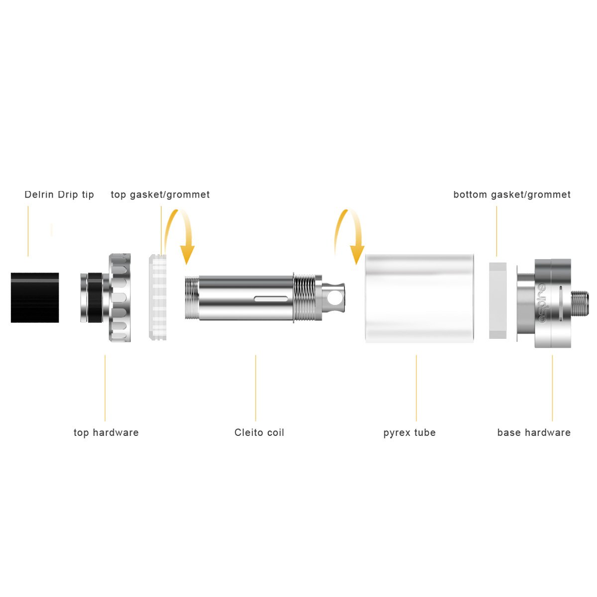 Aspire K4 Kit Tank Components