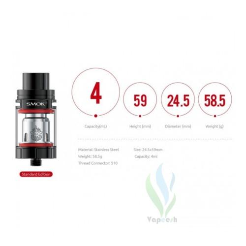 Smok TFV8 X-Baby Tank Dimensions